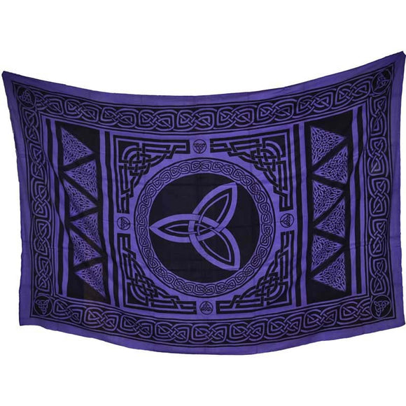 Purple & Black Triquetra Tapestry 72