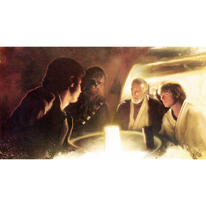 "Star Wars Episode IV: A New Hope ""Transport Negotiations"" Unframed Canvas Giclee Fine Art Print by Brian Rood [18"" x 32""] - Acme Archives Limited Edition 95 Pieces :: Mental XS Online"