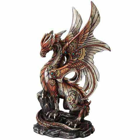 Steampunk Dragon Cold-Cast Resin Statue 10