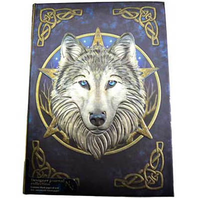 Wilde One Wolf with Celtic Knotwork Embossed Hardcover Unlined Journal (6⅞