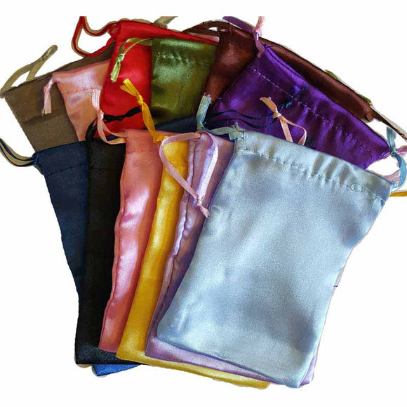 Satin Drawstring pouches (various colors) 4