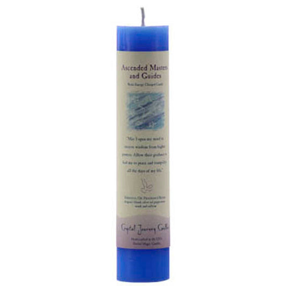 Crystal Journey Candles Blue Ascended Masters & Guides Reiki-Charged Pillar Candle 7