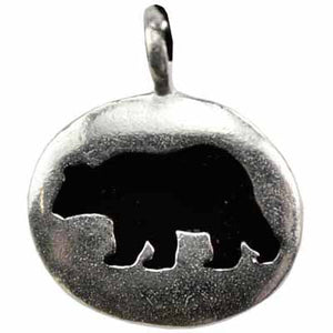 Bear Totem Amulet Pewter Pendant (has cord) :: Mental XS Online