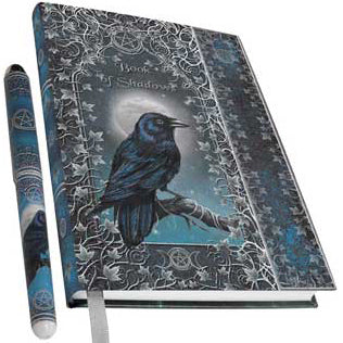 Book of Shadows Metallic Accented Embossed Hardcover Journal with pen by Luna Lakota (7