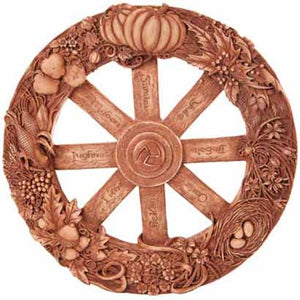 Wheel of the Year Resin Plaque 11""