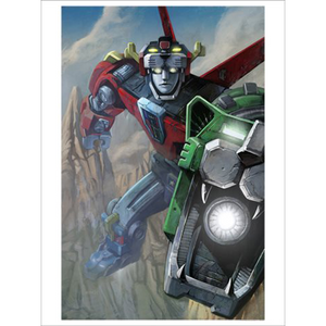 "Voltron Unframed Metallic Lithograph Art Print by Lee Kohse [24"" x 18""] - Acme Archives Limited Edition 150 Pieces :: Mental XS Online"