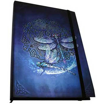 Celtic Dragonfly Metallic Accented Embossed Unlined Journal by Brigid Ashwood (8