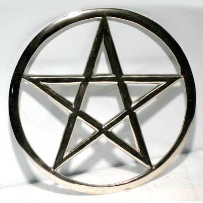 Cut-Out Pentacle Altar tile 5.75