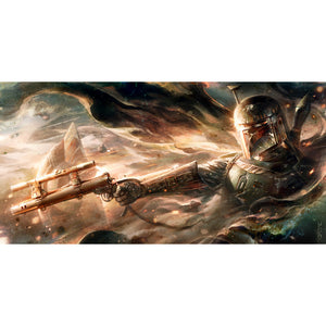 "Star Wars ""Ghost in the Wind"" Unframed Canvas Giclee Fine Art Print by Raymond Swanland [15"" x 30""] - Acme Archives Limited Edition 150 Pieces :: Mental XS Online"