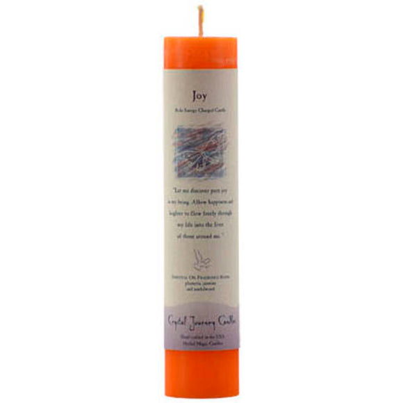 Crystal Journey Candles Orange Joy Reiki-Charged Pillar Candle 7