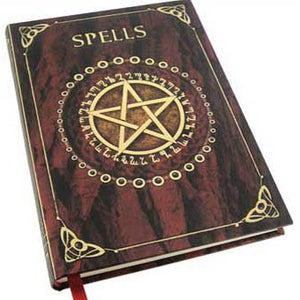 "Red Pentacle Spells Hardcover Unlined Journal (7"" x 5"") :: Mental XS Online"