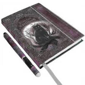 Witches Spellbook Hardcover Unlined Journal with Pen (7