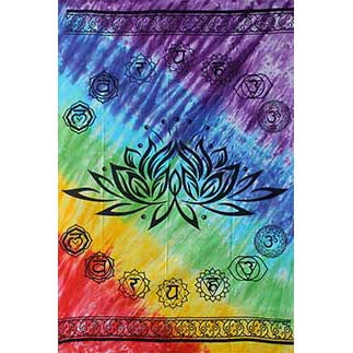 Lotus 7-Chakra Tie-dyed Tapestry 58