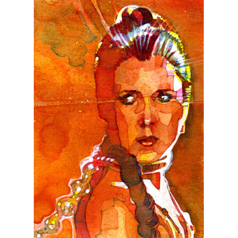 "Star Wars Episode VI: Return of the Jedi ""Princess Leia Your Highness"" Unframed Paper Giclee Fine Art Print by Mark McHaley [17"" x 11""] - Acme Archives Limited Edition 95 Pieces :: Mental XS Online"