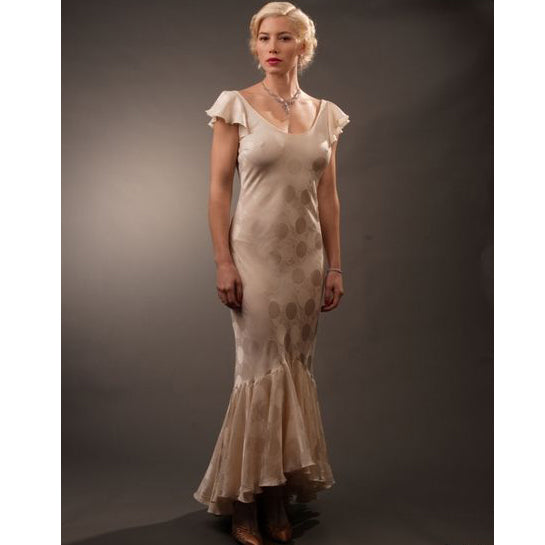 Easy Virtue 30s Style Silk Ballgown from Mental XS Online