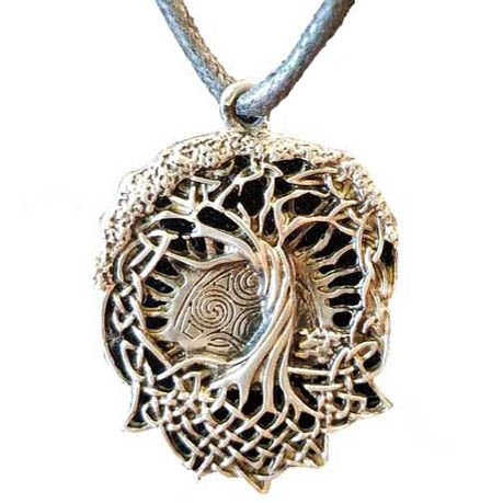 Yggdrasil Norse World Tree Amulet Pewter Pendant (has cord) :: Mental XS Online