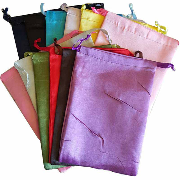 Satin Drawstring pouches (various colors) 6
