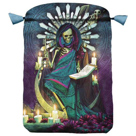 Santa Muerte Satin Keepsakes Bag by Llewellyn 6