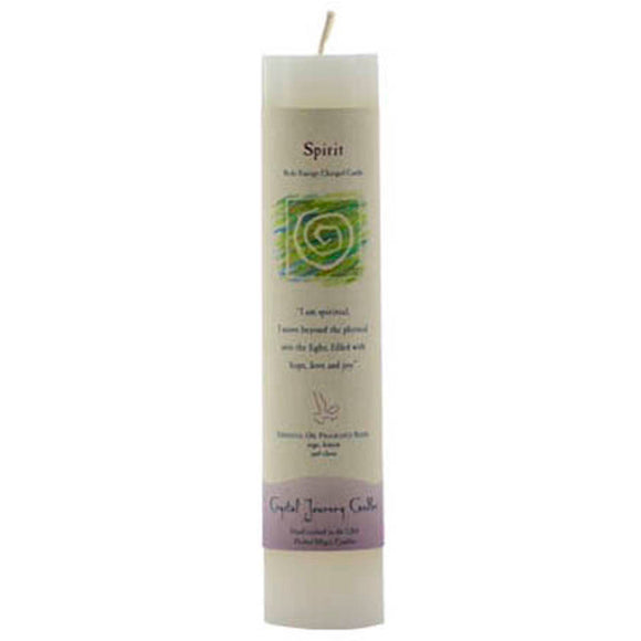 Crystal Journey Candles White Spirit Reiki-Charged Pillar Candle 7