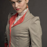 Dracula Lucy Westenra Linen Gingham Jacket US 4-14 LIMITED EDITION from Mental XS Online