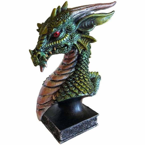 Green Dragon Head Cold-Cast Resin Bust 6½