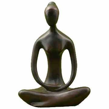 Black Yoga Goddess Cold-Cast Resin Statue 8¼
