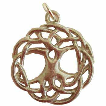 Celtic Knot Tree of Life Amulet Pewter Pendant (has cord) :: Mental XS Online