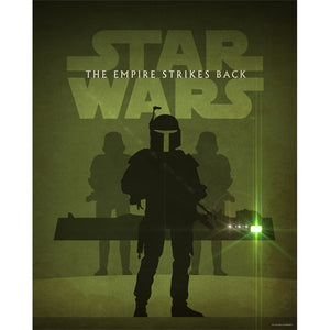"Star Wars Episode V: The Empire Strikes Back Metallic Lithograph Art Print by Jason Christman [20"" x 16""] - Acme Archives Limited Edition 200 Pieces :: Mental XS Online"