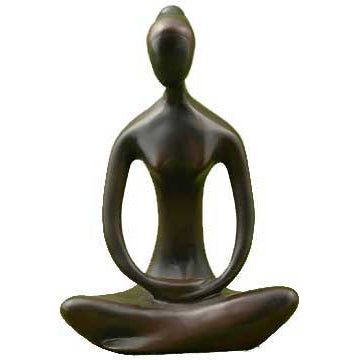 Black Yoga Goddess Cold-Cast Resin Statue 12