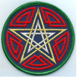 Celtic Double Pentacle Patch 3