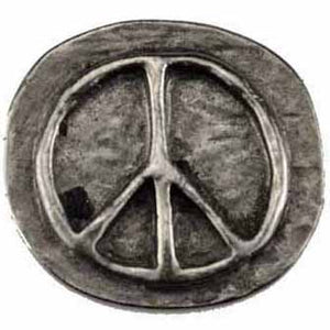 Peace Sign Pewter Pocket Stone :: Mental XS Online