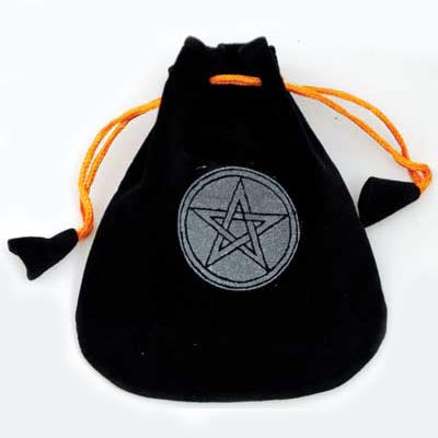 Pentacle Velveteen Black Bag 5