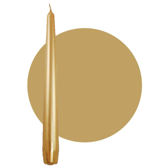 Gold Taper Candle 9