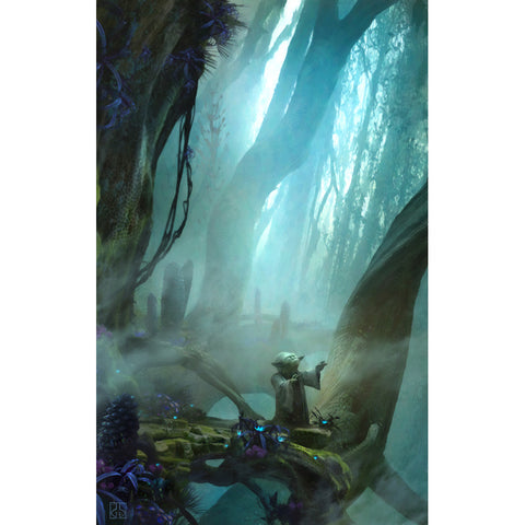 "Star Wars Episode V: The Empire Strikes Back ""Yoda There Is No Try"" Unframed Canvas Giclee Fine Art Print by Stephan Martiniere [30"" x 19""] - Acme Archives Limited Edition 295 Pieces :: Mental XS Online"