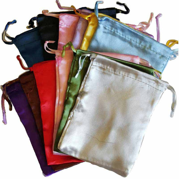 Satin Drawstring pouches (various colors) 5