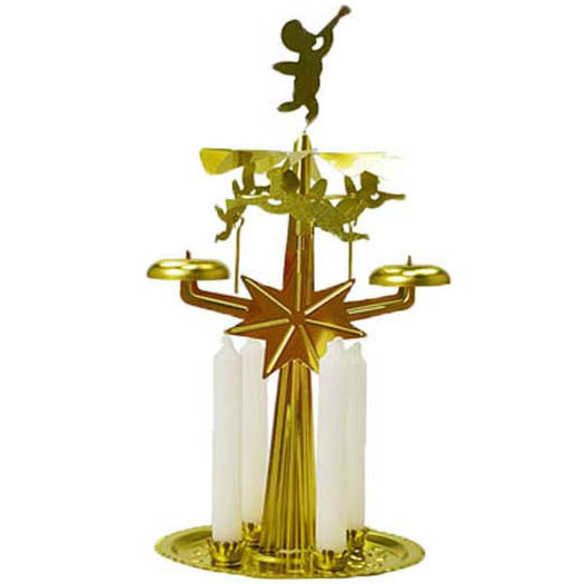 Gold Yule Chime Candle Holder