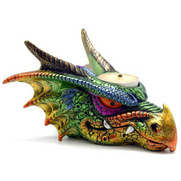 Dragon Cold-Cast Resin Tealight Candle Holder