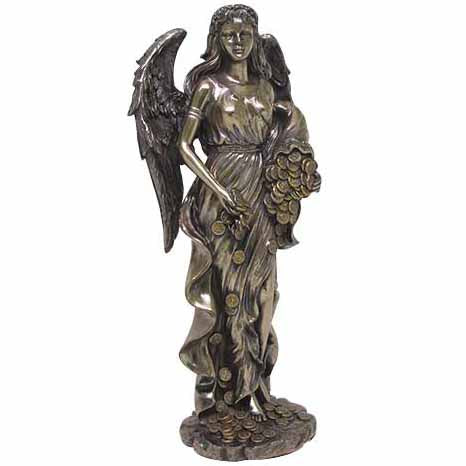 Fortuna Roman Goddess Bronze Cold-Cast Resin Statue 11