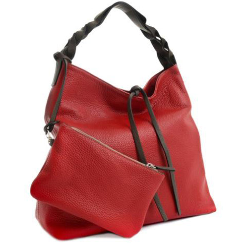 Carbotti Adria Calfskin Bag with Silk Leather Trim and Matching Wallet :: Mental XS Online