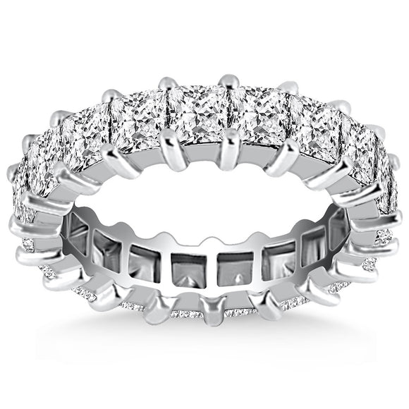 14K White Gold Common Prong Princess Cut 1.4 ct Diamond Eternity Ring