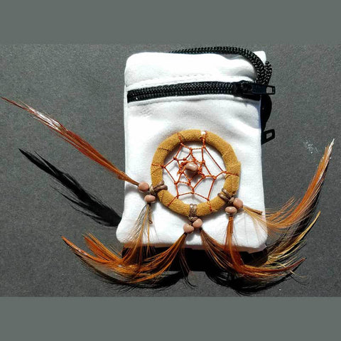 "White Dreamcatcher Bag 2"" x 4¼"""