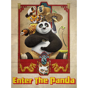 "Kung Fu Panda ""Enter the Panda"" Unframed Metallic Lithograph Art Print by Louis Solis [24"" x 18""] - Acme Archives Limited Edition 250 Pieces :: Mental XS Online"