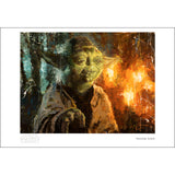 "Star Wars Episode V: The Empire Strikes Back ""Master Yoda"" Unframed Paper Giclee Fine Art Print by Christopher Clark [13"" x 19""] - Acme Archives Limited Edition 95 Pieces :: Mental XS Online"