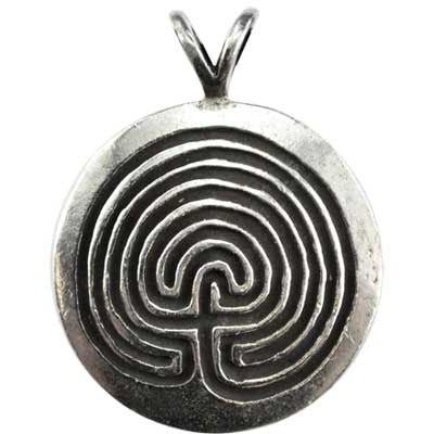 Wiccan Protection Amulet Pewter Pendant (has cord) :: Mental XS Online