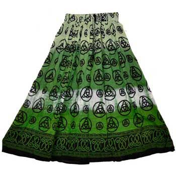 Green Triquetra Tie-dyed Skirt