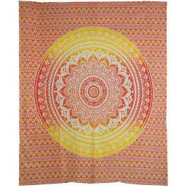 Red & Gold Ombre Mandala Tapestry 84