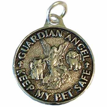 Keep My Pet Safe Guardian Angel Amulet Pewter Pendant :: Mental XS Online