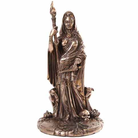 Hecate Greek Goddess Bonze Statue 11¼