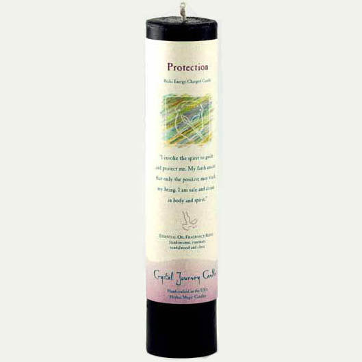Crystal Journey Candles Black Protection Reiki-Charged Pillar Candle 7