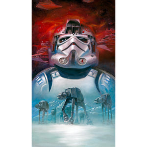 "Star Wars ""AT-AT Pilot"" Unframed Canvas Giclee Fine Art Print by Lee Kohse [24"" x 12""] - Acme Archives Limited Edition 95 Pieces :: Mental XS Online"